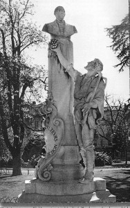 The French statue honoring Jules-Emile Planchon.
